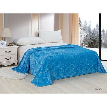 Плед Velvet, размер 180 × 200 см, цвет голубой