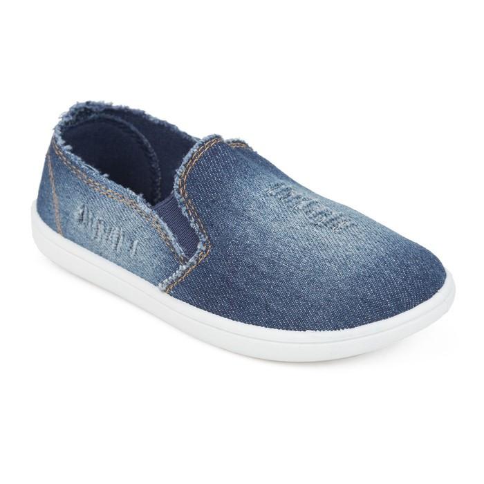 Слипоны детские, цвет синий, размер 29