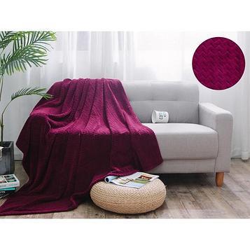 Плед Royal plush, размер 150 × 200 см, цвет вишнёвый, велсофт