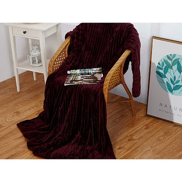 Плед Orrizonte, размер 200 × 220 см, цвет сливовый, велсофт