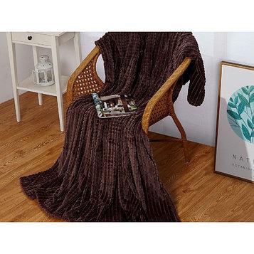 Плед Carre, размер 180 × 200 см, цвет графитовый, велсофт