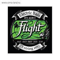 Струны FLIGHT BN4530-5 для 5ти стр. бас-гитары, 45-130, натяжение Medium, обмотка никель