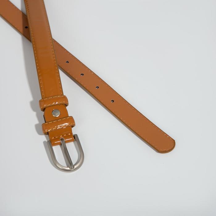 Ремень женский, 2 строчки, пряжка металл, ширина - 2,3 см, цвет коричневый - фото 2