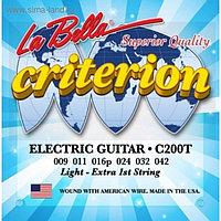 Струны для электрогитары LA BELLA C200T натяжение Light (009-011-016-024-032-042)