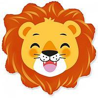 """Шар фольгированный 30"""" «Голова львёнка», фигура"""