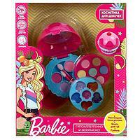 Косметика для девочек «Барби» тени для век, румяна, блеск для губ