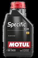 0W20 для Jaguar Land Rover (1Л) Cинтетическое моторное масло Motul