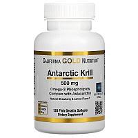 California Gold Nutrition, масло антарктического криля, 500 мг, 120 рыбно-желатиновых мягких таблеток