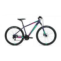"""Велосипед FORWARD APACHE 27,5 3.2 disc (27,5"""" 21 ск. рост 21"""") 2020-2021, фиолетовый/зеленый, фото 1"""