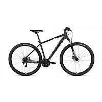 """Велосипед FORWARD APACHE 29 3.2 disc (29"""" 21 ск. рост 17"""") 2020-2021, черный матовый/серебристый, фото 1"""