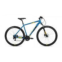 """Велосипед FORWARD APACHE 29 3.2 disc (29"""" 21 ск. рост 19"""") 2020-2021, бирюзовый/оранжевый, фото 1"""