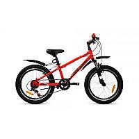 """Велосипед FORWARD UNIT 20 2.2 (20"""" 6 ск. рост 10.5"""") 2020-2021, красный/черный"""