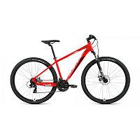 """Велосипед FORWARD APACHE 29 2.2 S disc (29"""" 21 ск. рост 21"""") 2020-2021, красный/серебристый, фото 1"""