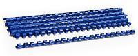 Пружины для переплета 12 мм, пластик, на 105 листов, 100 шт/уп, синие 38249