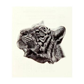 """Татуировка на тело """"Морда тигра"""" 5,3х6,3 см"""