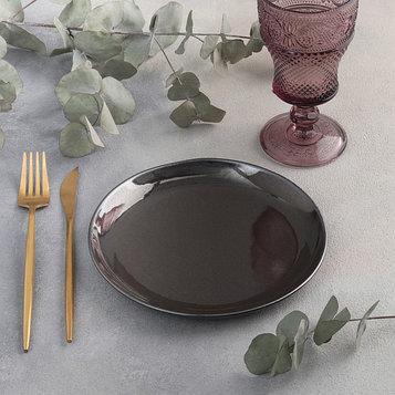 Тарелка плоская «Сталь», d=19 см