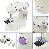 Портативная мини швейная машинка. Mini sewing machine., фото 3