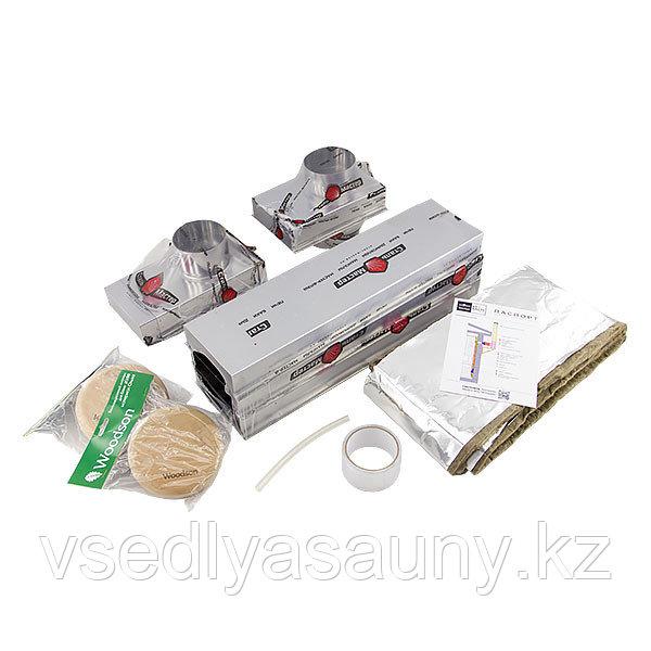 Вентиляция для бани КуБасту нерж 0,5 мм AISI 430.СтальМвеастер. (Вертикальная).