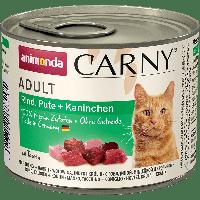Анимонда Animonda Carny Adult для кошек с говядиной, индейкой и кроликом 200гр