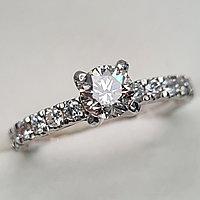 Золотое кольцо с бриллиантами 1.01Сt VVS2/L EX-Cut, фото 1