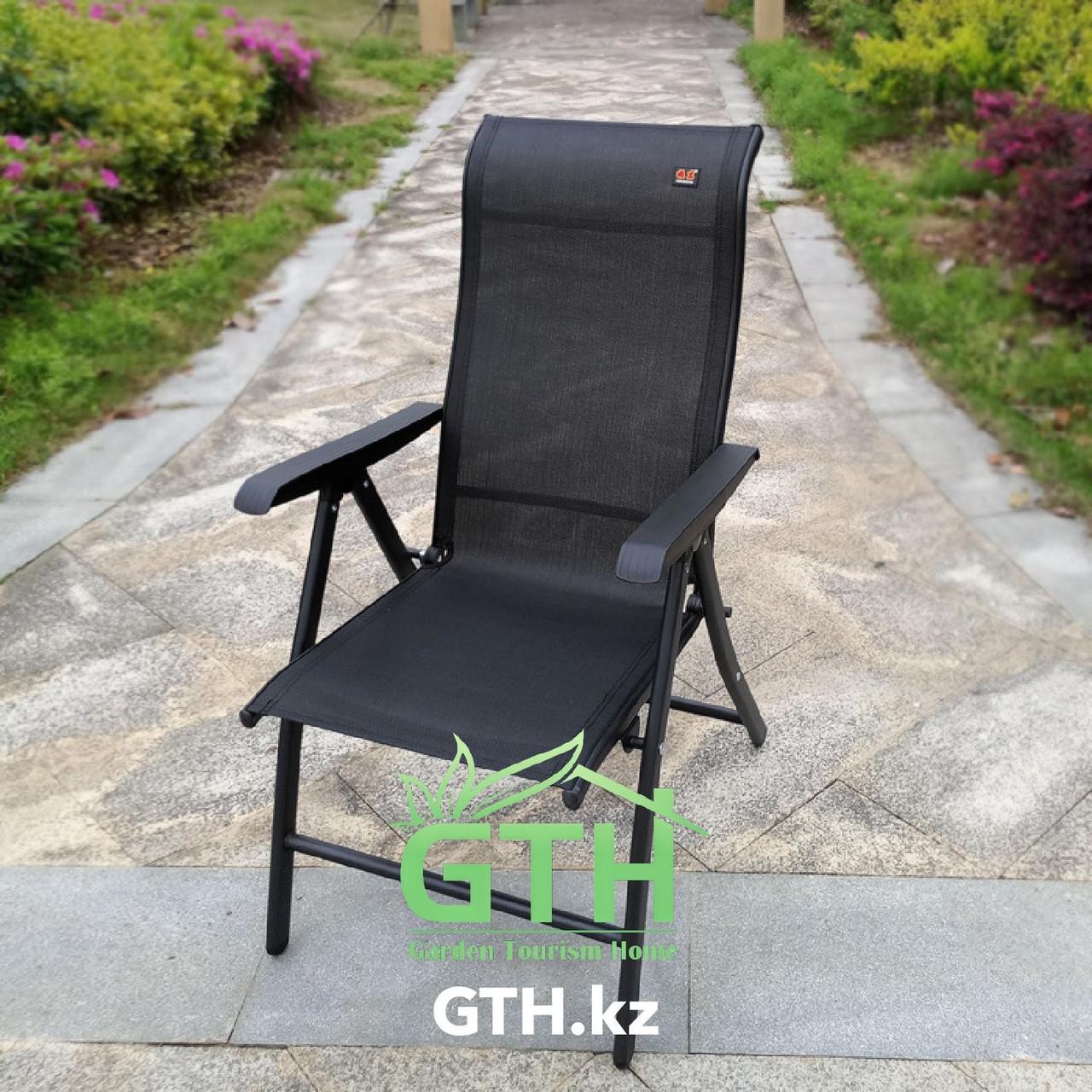 Складное кресло с регулировкой спины Zhejang Zhendong. Нагрузка 150 кг. Доставка. - фото 1
