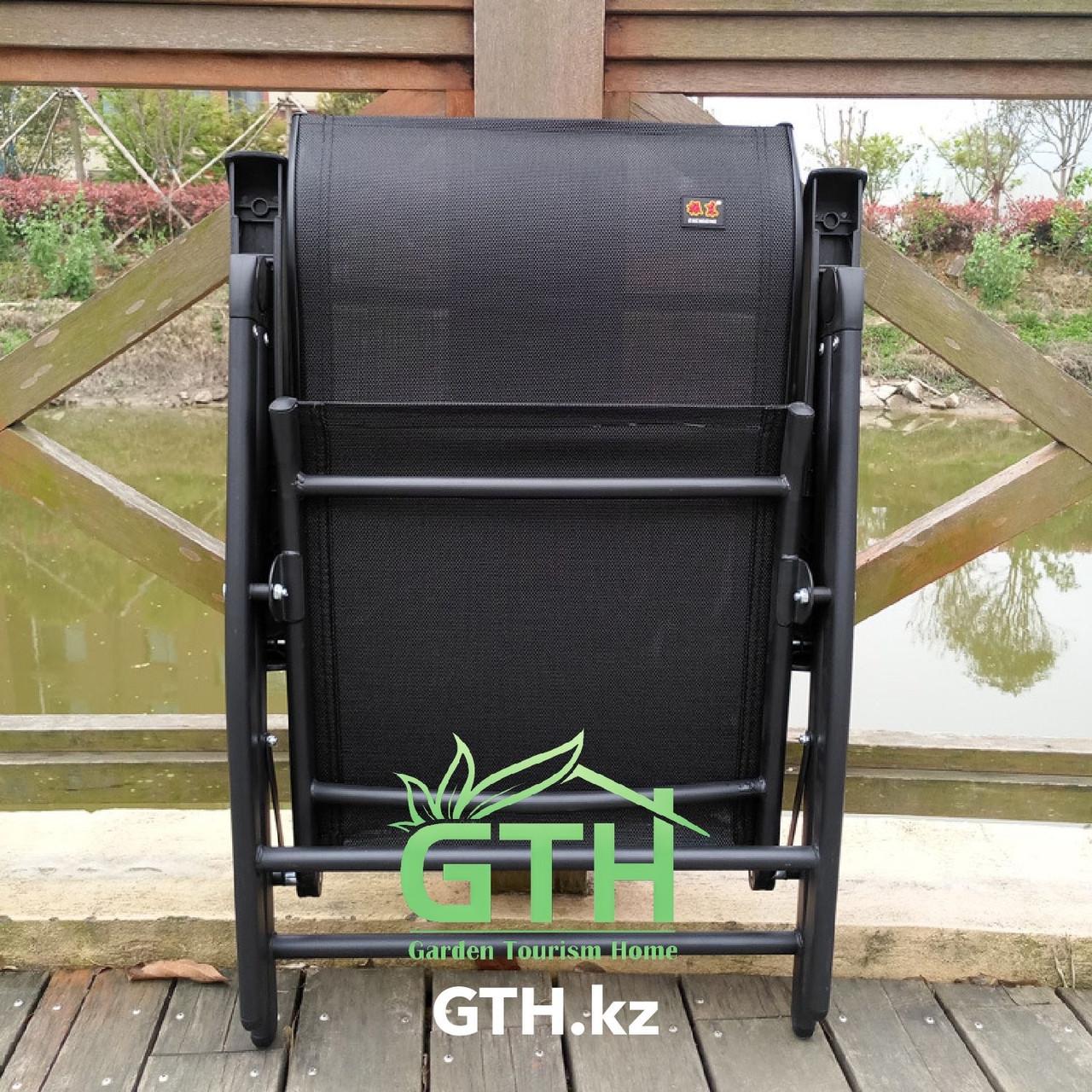 Складное кресло с регулировкой спины Zhejang Zhendong. Нагрузка 150 кг. Доставка. - фото 4