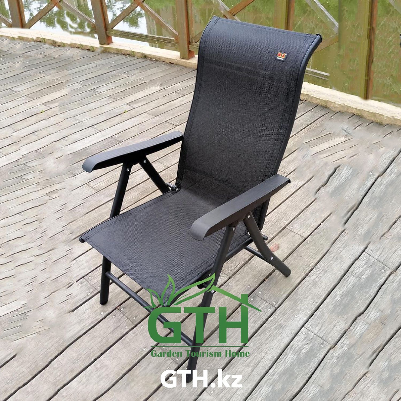 Складное кресло с регулировкой спины Zhejang Zhendong. Нагрузка 150 кг. Доставка. - фото 3