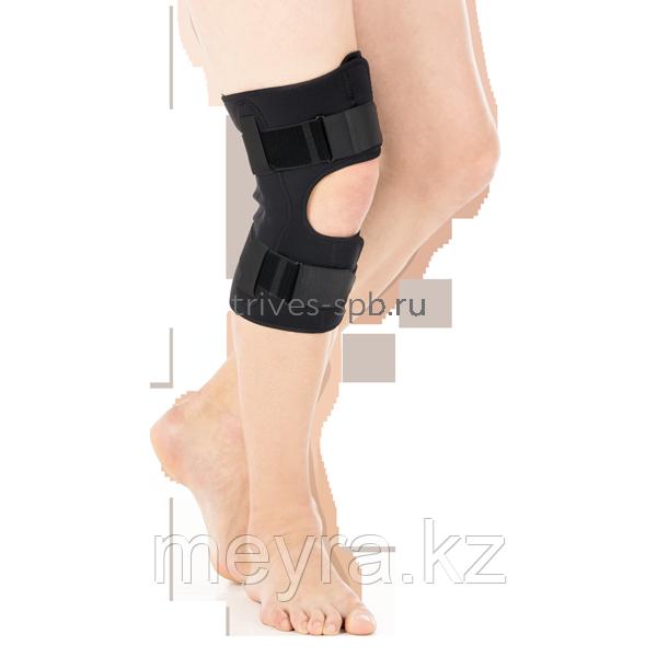 Бандаж разъемный на коленный сустав с полицентрическими шарнирами