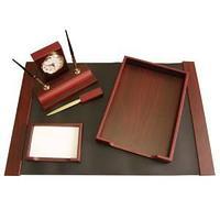 Набор для руководителя 8 предметов (вместе с ручками) махагон (красное дерево)
