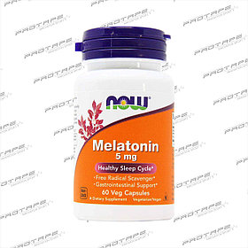 Melatonin 5mg  180капс. / Now Foods USA