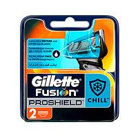 Сменные кассеты для мужской бритвы Gillette Fusion ProShield Chill 2 шт