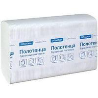 Полотенца бумажные OfficeClean, Professional, Z-сл, 2-х слойные, 200 л/пач, 21,5*24, тиснение белые.