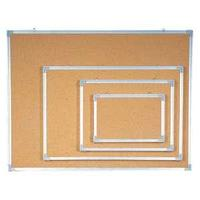 Доска пробковая 90 х 120 см, алюминиевая рамка Data Zone