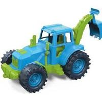 Трактор задний ковш 22см (зелено-голубой)  в коробке