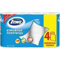 Бумажное полотенце, Zewa, двухслойные, 4  рул в упак