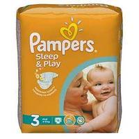 Детские подгузники Pampers Sleep & Play Midi Размер 3 4-9 кг 16 шт