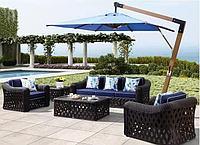 Зонт Wood Lux, 3х3м, квадратный, синий