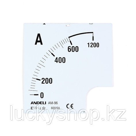 Шкала для амперметра ANDELI 100/5, фото 2