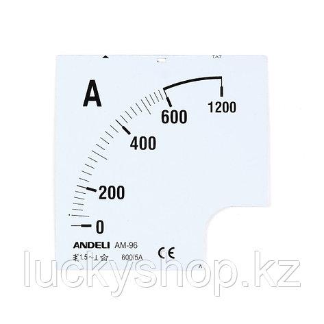 Шкала для амперметра ANDELI 2000/5, фото 2