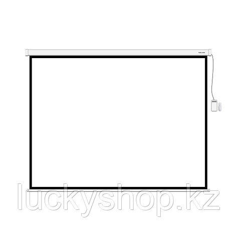 "Экран моторизированный (с пультом Д/У) Deluxe DLS-ERC203xW (80""х80""), Ø - 113"", 1:1, фото 2"