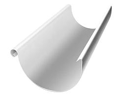 Желоб доборный Ø125 мм 1250 мм 0,5 двусторонний RAL 9003 Белый