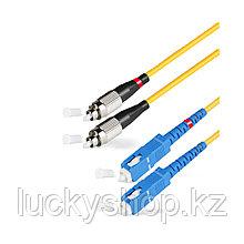 Патч Корд Оптоволоконный SС/UPC-FC/UPC SM 9/125 Duplex 3.0мм 1 м