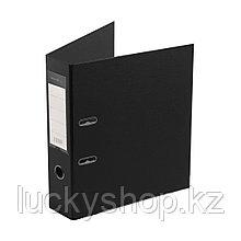 """Папка–регистратор Deluxe с арочным механизмом, Office 3-BK19 (3"""" BLACK), А4, 70 мм, чёрный"""