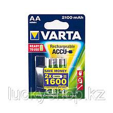 Аккумулятор VARTA R2U Mignon 1.2V - HR6/ AA 2100 мАч (2 шт)