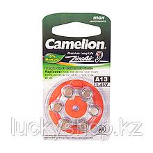 Батарейка CAMELION Zinc Air A13-BP6(0%Hg) 6 шт. в блистере