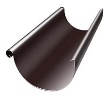 Желоб доборный Ø125 мм 1250 мм 0,5 двусторонний RAL  8017 Коричневый