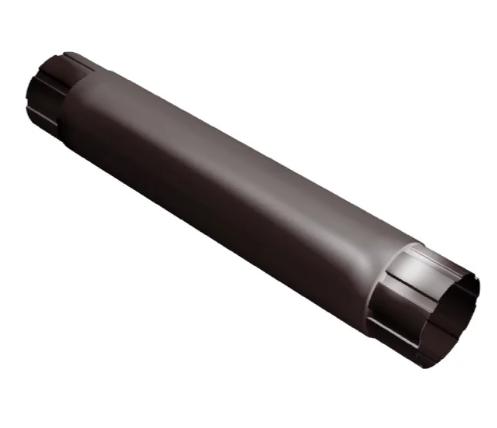 Труба круглая соединительная Ø100 мм, 1000 мм 0,5 двусторонний RAL 8017 Коричневый