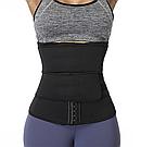 Утягивающий двойной спортивный поясной корсет для похудения, фото 3