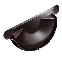 Заглушка желоба Ø125 мм 0,5 RAL 8017 Коричневый