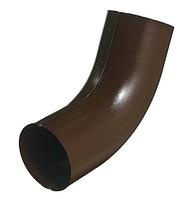 Колено трубы штампованное 60 гр Ø100 мм 0,5 RAL 8017 Коричневый